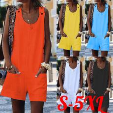Summer, комбенезонженский, Fashion, Cotton