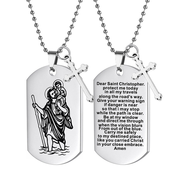 Steel, catholic, blessing, Key Chain