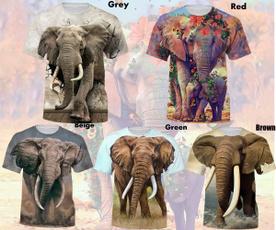 Summer, Fashion, Graphic T-Shirt, animal print