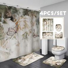 butterfly, Bathroom, Flowers, bathroomdecor
