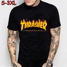 Summer, Fashion, crop top, men's cotton T-shirt