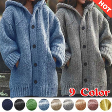 button, Casual Jackets, Plus Size, women coat