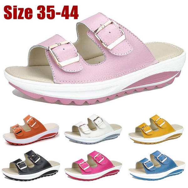 Plus Size, casual leather shoes, Womens Shoes, Buckles