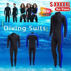Surfing, solidcolorwetsuit, divingequipment, Suits