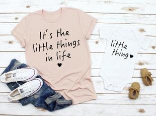 Fashion, roundnecktshirt, letter print, summer shirt