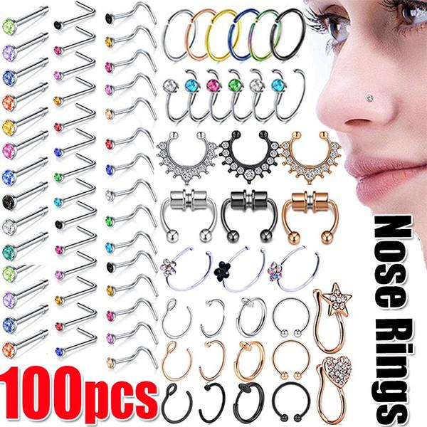 Steel, Jewelry, fauxseptumring, nosehoop