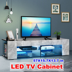 Home & Living, woodtvcabinet, Modern, led