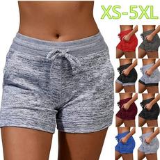 shortsdeportivo, Summer, Plus Size, high waist