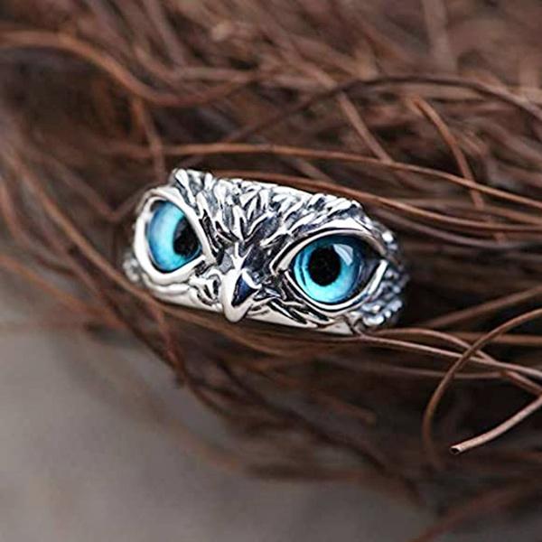 Blues, Owl, Adjustable, Jewelry
