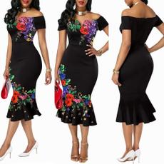 Plus Size, women dresses, Elegant, Dress