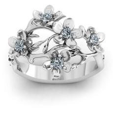 Sterling, DIAMOND, 925 silver rings, Simple