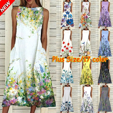 Summer, Party Dresses, Plus Size, casual dress
