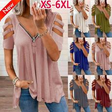 Deep V-Neck, Fashion, Shirt, short sleeved tshirt
