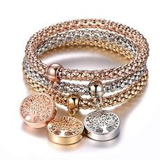 Charm Bracelet, Fashion, gold, Tree