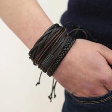 Wristbands, leather, Bracelet, Men's Fashion