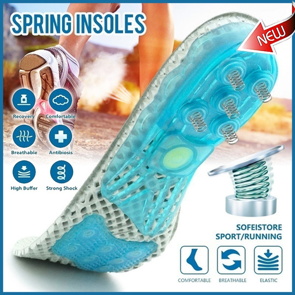 Insoles, gelinsole, Silicone, Spring