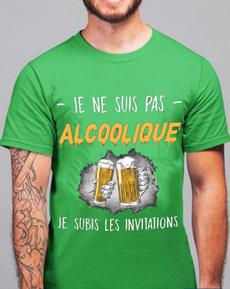 Funny, Fashion, alcooliquetshirt, Gifts