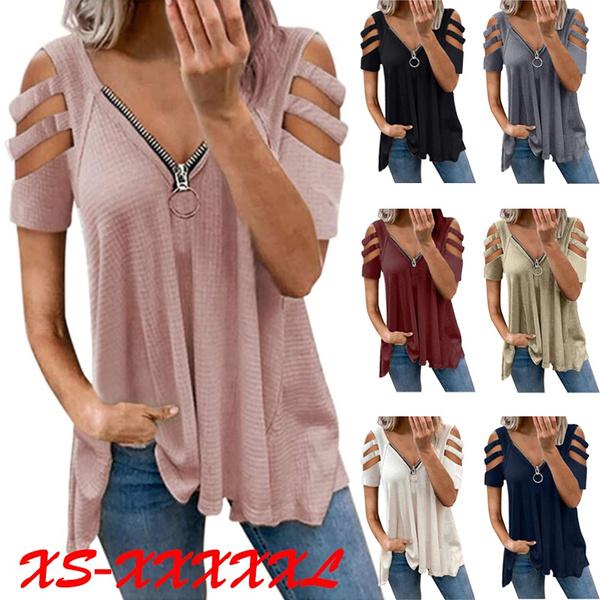 Summer, Fashion, zippershirtsforwomen, Spring