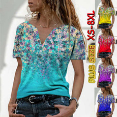 Summer, Plus size top, tunic top, printed shirts