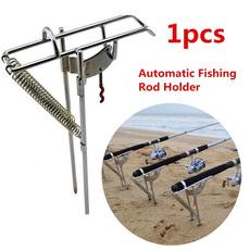 automaticfishingbracket, Steel, fishingrodholder, Hooks
