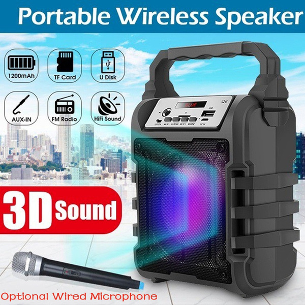 bluetoothspearker, Microphone, Outdoor, led