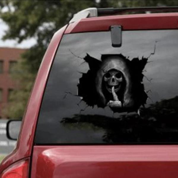 Car Sticker, skullsticker, glasssticker, skull