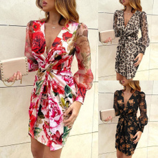 Mini, womens dresses, Summer, Long Sleeve