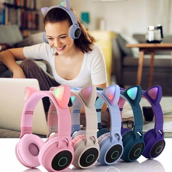 Headset, led, catearheadphone, girlsheadphone