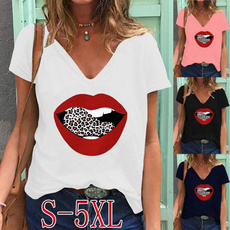 Summer, Plus Size, Graphic Shirt, blouse