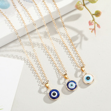 Necklace, clavicle  chain, Fashion, eye