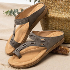 Flats, Sandals, Womens Shoes, leather