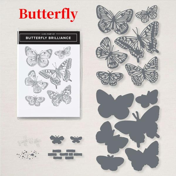 siliconestamp, butterfly, Flowers, metalcuttingdie