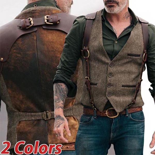 Pocket, Vest, mensuspendersblack, belts and braces