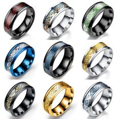 Couple Rings, 8MM, Celtic, Fiber