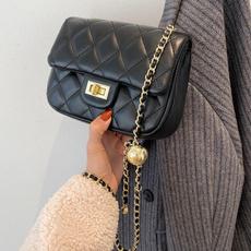 golden, women single shoulder bag, baglingge, lady messenger bag