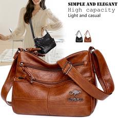 largecapacityhandbag, Shoulder Bags, sacfemme, leather