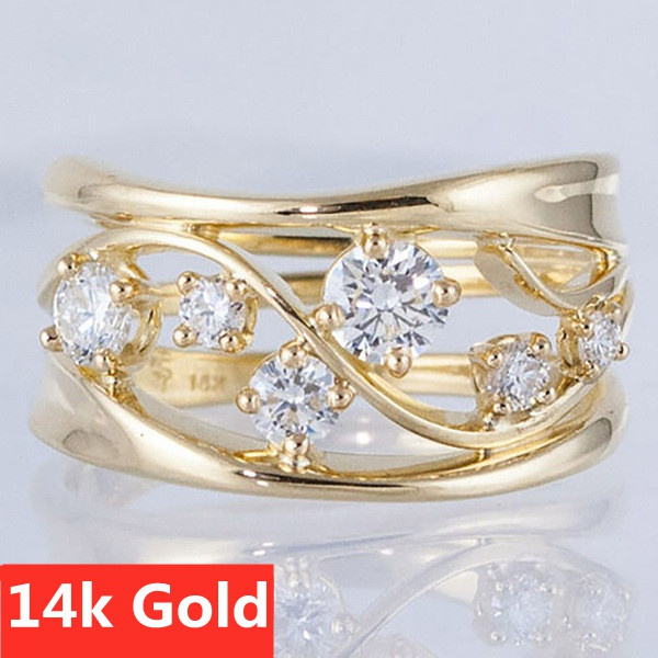moissanite, DIAMOND, Jewelry, gold