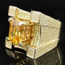 Fashion, Women Ring, gold, Crystal