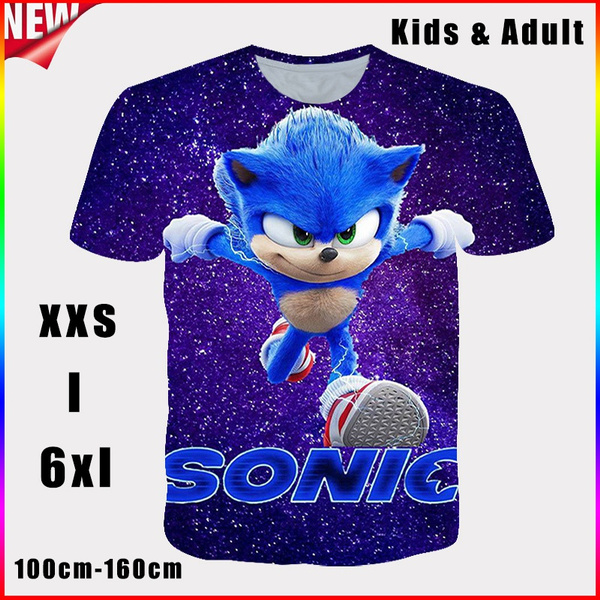 Blues, sonic, Round neck, Shorts