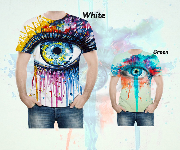 Summer, eye, Colorful, painted