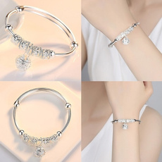 Charm Bracelet, Silver Bangles, sterling silver, Jewelry