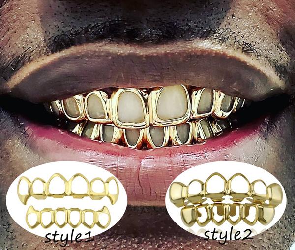 goldplated, grillz, vampirecostume, hip hop jewelry