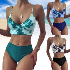 Summer, two piece swimsuit, Womens Swimsuit, Waist