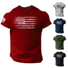 Summer, Fashion, Shirt, usaflagtshirt