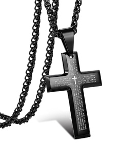 Steel, Men  Necklace, Jewelry, Cross Pendant