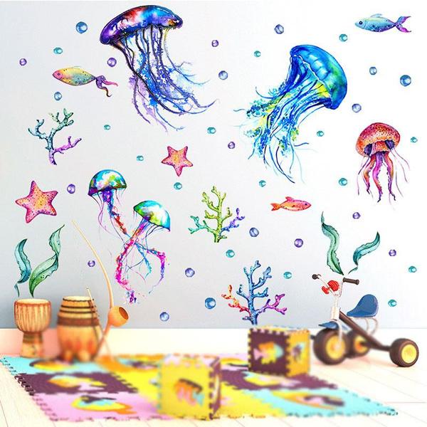 sealife, Decor, Waterproof, glasssticker