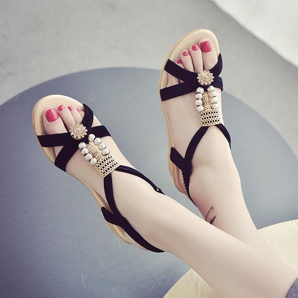 wedge, fashion women, Sandals, Flats shoes