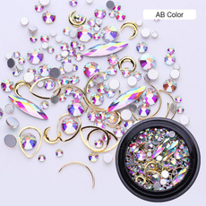 art, nailjewelry, gold, Makeup