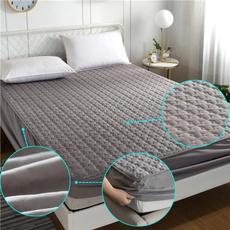 Cotton, quiltedmattressprotector, quiltedmattresscover, Bedding