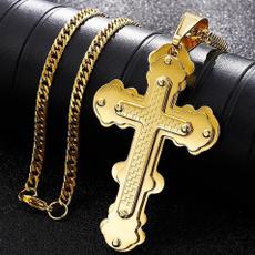 Fashion Accessory, 18kgoldnecklace, manpendant, Cross necklace